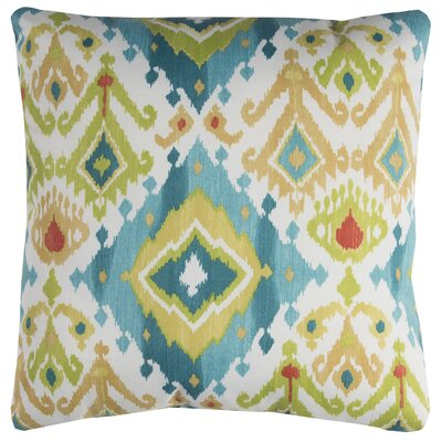 Luciana Outdoor Pillow Color: Blue/Green