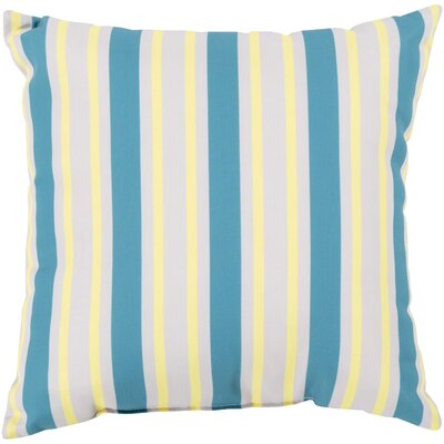 Pamela Outdoor Pillow Size: 18 W x 18 D, Color: Aqua/Yellow
