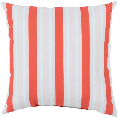 Pamela Outdoor Pillow Size: 18 W x 18 D, Color: Coral/Sky Blue