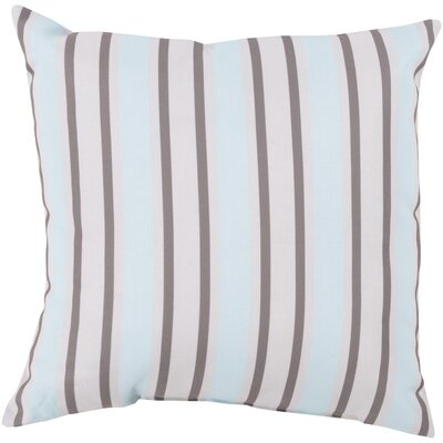 Pamela Outdoor Pillow Color: Gray/Light Blue, Size: 26 W x 26 D