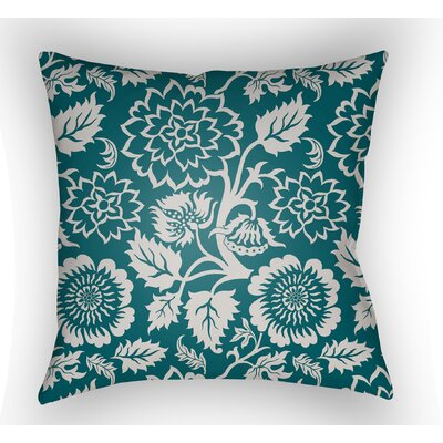 Amara Outdoor Pillow Size: 18 H x 18 W x 4 D, Color: Teal