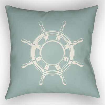 Castaway Outdoor Pillow Size: 18 H x 18 W x 4 D, Color: Seafoam