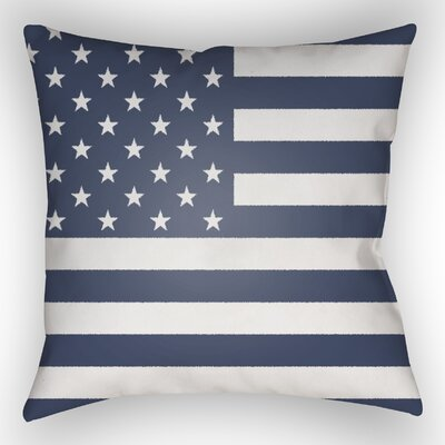 Independence Throw Pillow Color: Blue, Size: 20 H x 20 W x 5 D