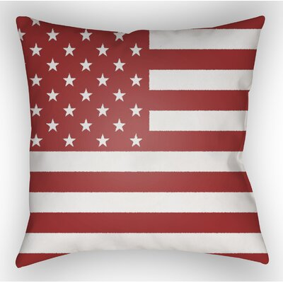 Independence Throw Pillow Size: 18 H x 18 W x 4 D, Color: Red