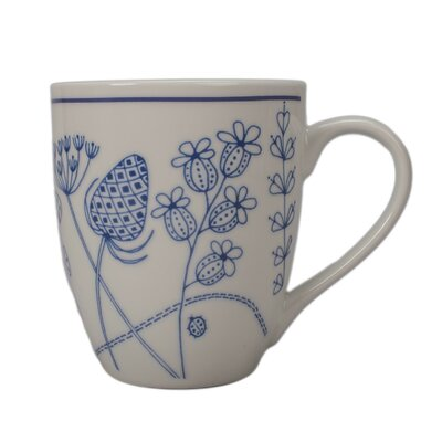 Summer Garden Coffee Mug (Set of 4) Color: White