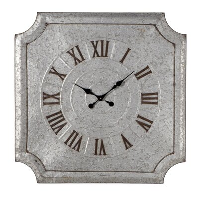 Princep Square Galvanized Wall Clock