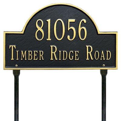 Water Street Address Plaque
