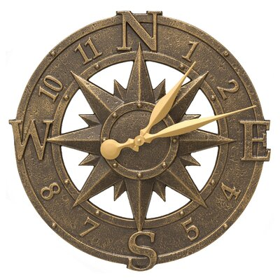Stillwater Compass Clock Color: French Bronze