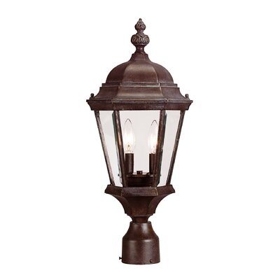 Edgartown Outdoor Post Lantern Finish: Walnut Patina