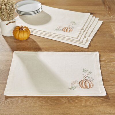 Pumpkin Etched Placemats (Set of 6)