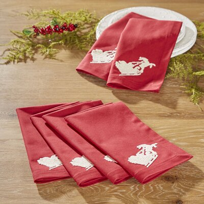 Santa's Sleigh Napkins (Set of 6)