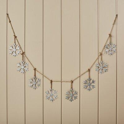 Snowflake Metal and Rope Garland