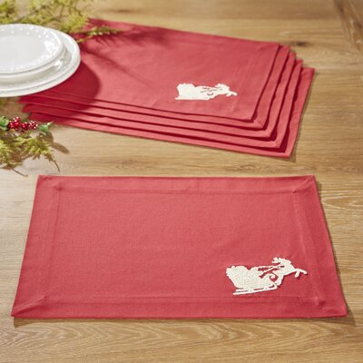Santa's Sleigh Placemats (Set of 6)