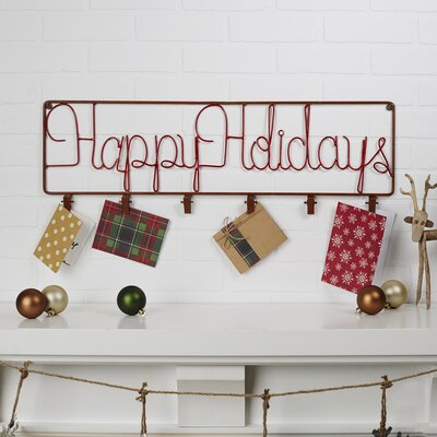 Holiday Metal Card Holder