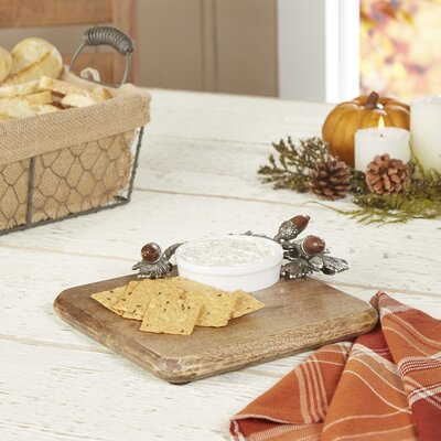 Romsey Oak Leaf Cutting Board with Ramekin