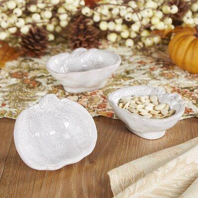 White Pumpkin Bowls