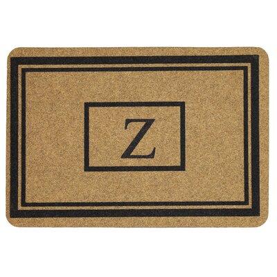 Monogram Doormat Letter: Z