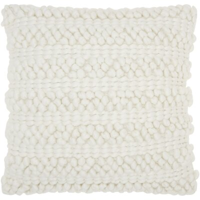 Kaiden Looped Pillow Color: White