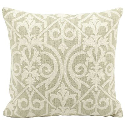 Trellis Wool Pillow Cover Color: Light Green