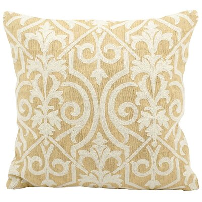 Trellis Wool Pillow Cover Color: Yellow