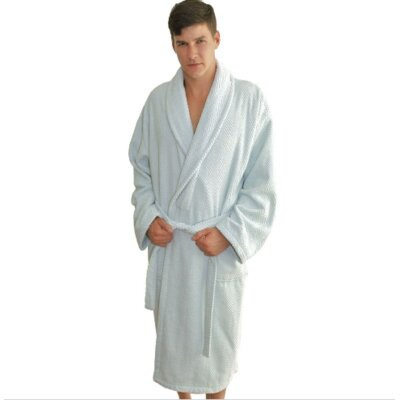 Winchester Monogrammed Bathrobe Size: Robe, Color: Pool
