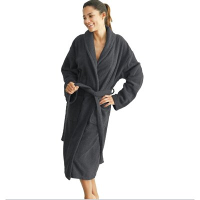 Winchester Monogrammed Bathrobe Size: Robe +, Color: Pewter
