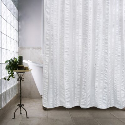 Ewen Shower Curtain Color: White