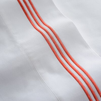 Stowe Sheet Set Size: Full, Color: Coral