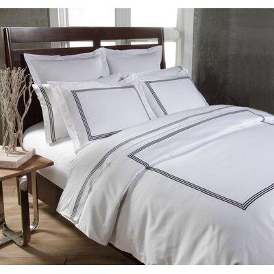 Tappen Duvet Set Color: White / Black, Size: King