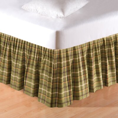 Tenby Plaid Bed Skirt Size: Queen