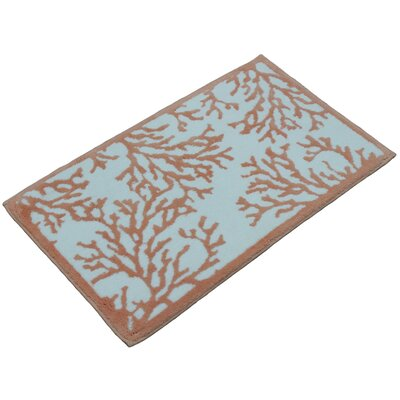 Cool Coral Bath Mat Color: Coral