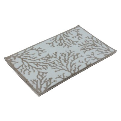 Cool Coral Bath Mat Color: Smoke Grey