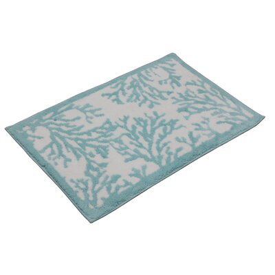 Cool Coral Bath Mat Color: Turquoise