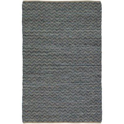 Tamara Hand-Woven Gray Area Rug Rug Size: 5 x 76