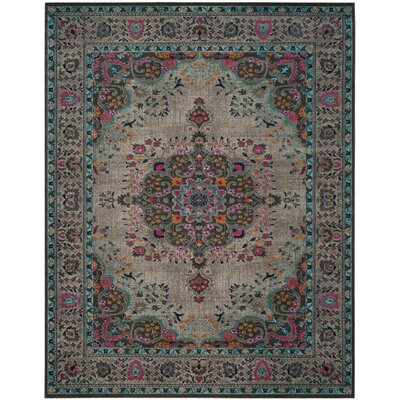 Donald Light Gray Area Rug Rug Size: Rectangle 9 x 12