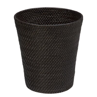Tinton Woven Waste Basket Finish: Dark Brown Espresso