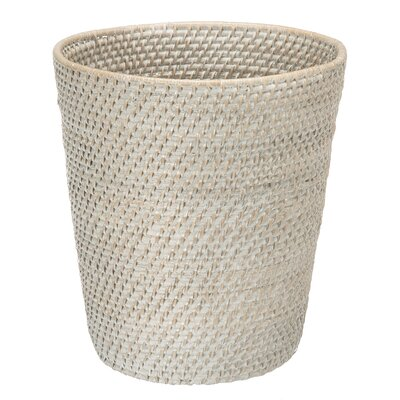 Tinton Woven Waste Basket Finish: White Wash