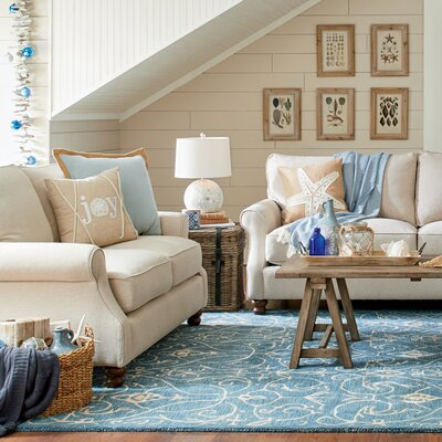 Huxley Loveseat Upholstery: Godiva Putty