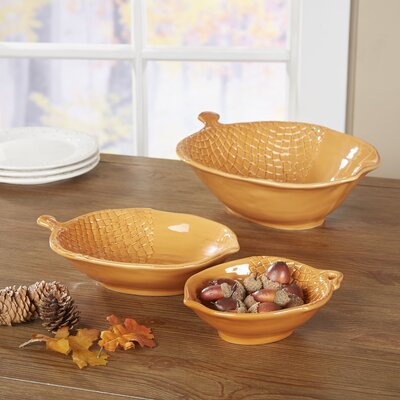 3 Piece Acorn Nesting Bowl Set