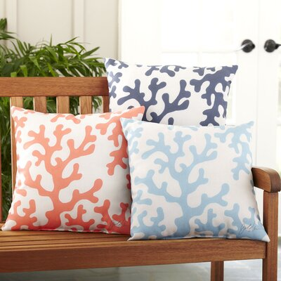 Graphic Polyester Throw Pillow Size: 18 H x 18 W, Color: Light Blue