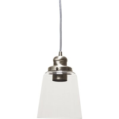 1-Light Mini Pendant Finish: Brushed Nickel