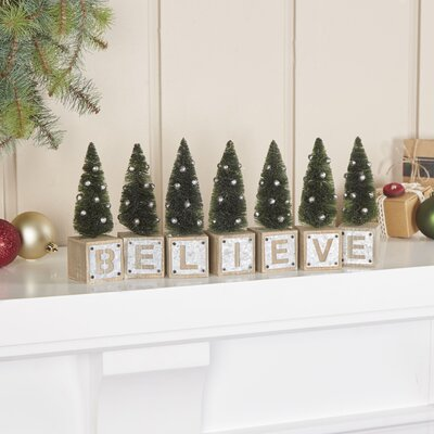 Galvanized Holiday Believe Blocks