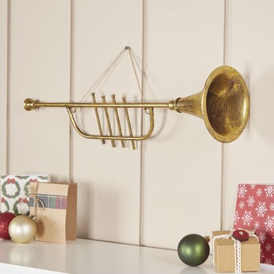 Golden Trumpet Ornament