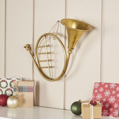Golden French Horn Ornament