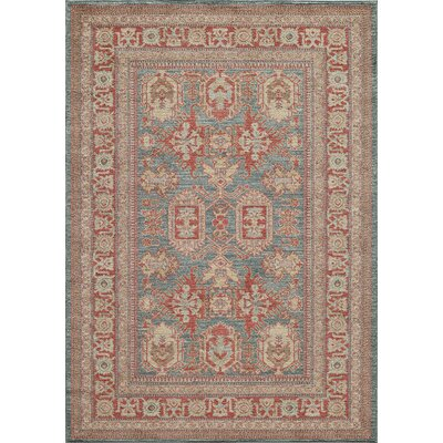 Ghazni Blue Area Rug Rug Size: Rectangle 5'3
