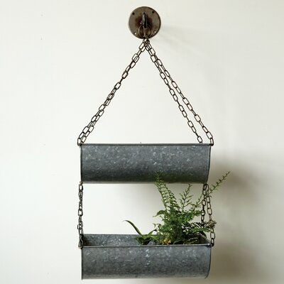 Grange Metal Hanging Bucket with Wall Hook