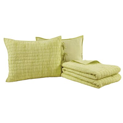 Rochelle Quilt Set Size: Queen, Color: Light Green