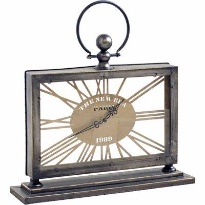 Gray and Gold Metal Desk Clock