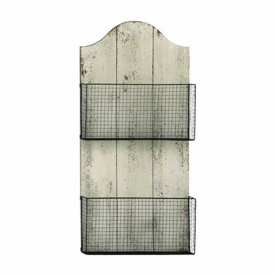 Wood/Metal Wire Wall Basket