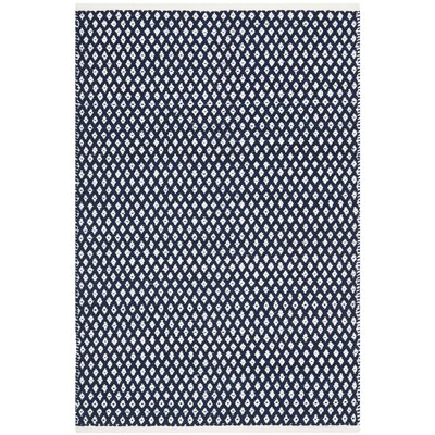 Ash Navy Area Rug Rug Size: Rectangle 4 x 6